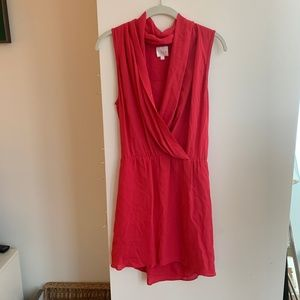 Cherry red/pink silk dress (Parker, size S)